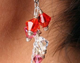 Swarovski Crystal Drop Bridal Bridesmaid Earrings, The Alyse