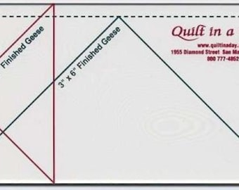 Quilt In A Day Small Flying Geese Ruler by the ruler