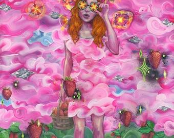 "Music Art - Large Format Art - ""Kaleidoscope Eyes"" by Black Ink Art"