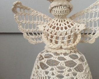 Crochet angel tree topper