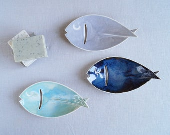 Ceramic FISH soap dish