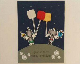 Robots Birthday Card