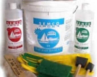 SEMCO Natural Teak Restoration Kit Quart size