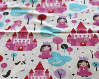 Fabric upholstery Princesses 70 x 50 cm