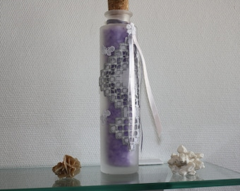 Bottle of fragrance Lavender bath salts