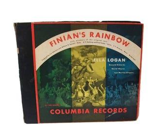 1947 FINIAN'S RAINBOW Broadway Album Ella Logan 78 rpm Burton Harburg M-MM-686 / Pot of Gold / Luck of the Irish / St. Patrick's Day