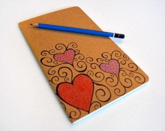 Moleskine Journal - Hearts and Swirls