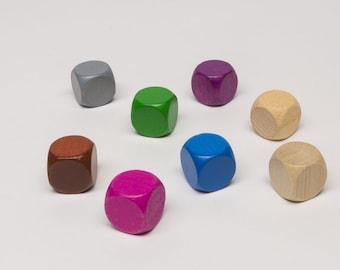 10 Plain dice of width 16 mm