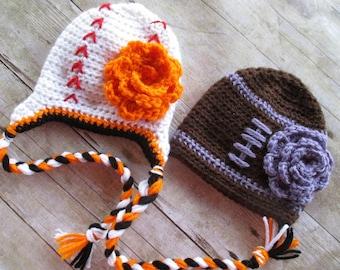 Newborn Football Hat, Newborn Baseball Hat, Baby Football Hat, Baby Baseball Hat, Newborn Photo Prop, Baltimore Sports Team Hat