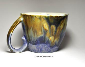 Lavender surf mug. A tea mug. Coffee mug. Personal mug. Mug as a gift.