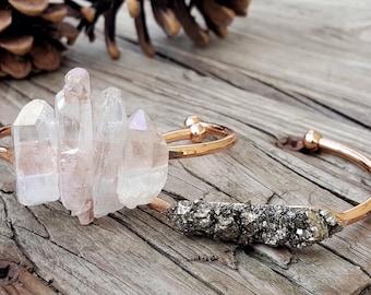 Bracelet Set Rose Gold Bracelet Set Stacking Bracelet Set Crystal Bracelet Rose Gold Christmas Gift for Woman Gift For Her Cuff Bracelet Set