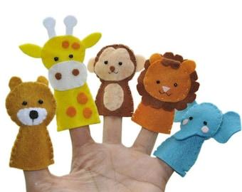 Zoo Animals Finger Puppet Set 5.