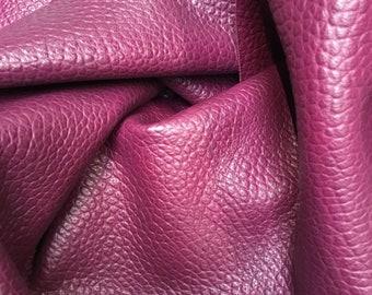 Dark plum Italian leather hide. APX 1.8-2.0 m2, 1.8mm thick