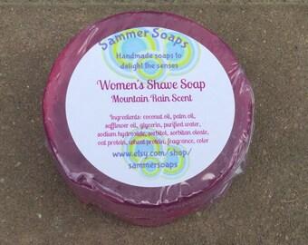 Women's Shaving Soap, Mountain Rain Scented Soap, Women's Shave Soap, Smooth Shave Soap