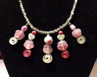Gemstone and wirework bespoke design necklace