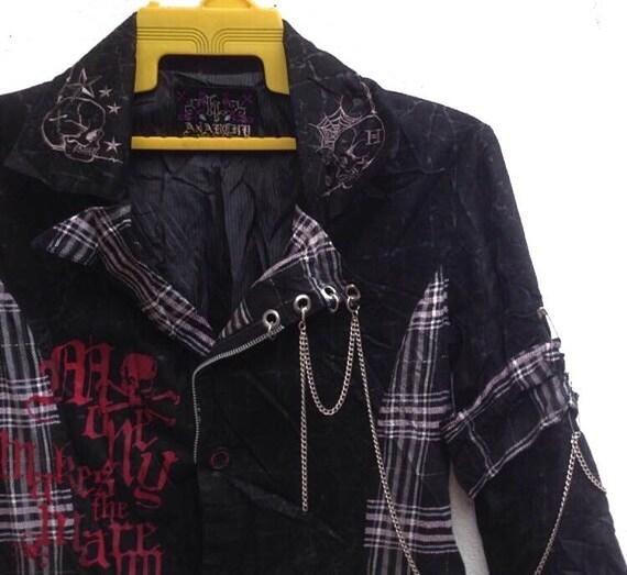 Rare Punk H Style Jacket Skull Anarchy Burton Rock qrqxtP7gwW