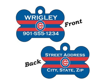 Chicago Cubs Double Sided Custom Pet Id Dog Tag Personalized for your Pet