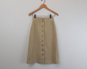Vintage 60s high rise  button down skirt by Act III