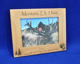 Hunting ~ Elk Hunting ~ Hunting Frame ~ Hunting Gift ~ Gift For Hunter ~ Hunting Picture Frame ~ Elk ~ Elk Hunt Frame ~ Hunter Gifts ~ Frame