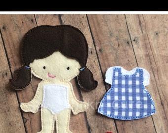 Felt Non Paper Dorothy Themed Doll