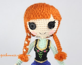 PATTERN: Anna Crochet Amigurumi Doll