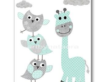 Gray Mint Instant Download Art Baby Boy Nursery Wall Art Baby Nursery Decor Kids Room Digital Download Print Digital Art 8X10 Playroom Art