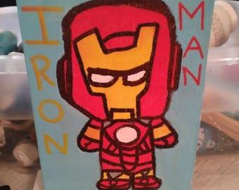 Iron Man 5x7 Canvas