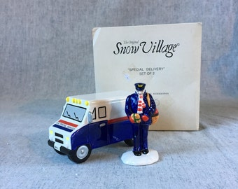 Vintage Department 56 Snow Village, Special Delivery 1989 Retired