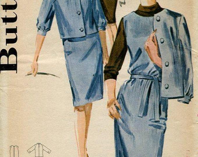 FREE US SHIP Butterick 2851 Retro 1950's Dress Jacket Uncut Bust 32 Sewing Pattern Original Jackie O Suit 50's era