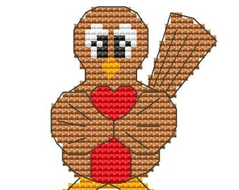Cross Stitch Kit 'Robin' Counted CrossStitch Kit - Christmas CrossStitch