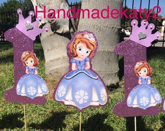 "Sofia the First   ""stick only"" for centerpiece  decoration  or cake topper."