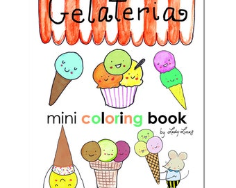 Gelato Ice Cream Coloring Book Printable Download
