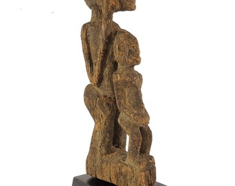 Dogon Miniature Figure With Child on Base Mali African Art 121675