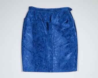 YVES SAINT LAURENT - Laminated skirt