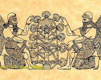 Assyrian Tree of Life Rubber Stamp