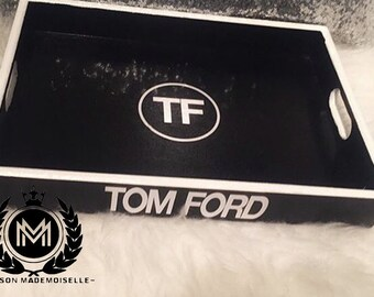 TF Decorative Black and White Tray Inspired by a Designer