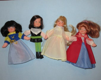 1977 MEGO Puppet Love Fairy Tale Dolls (Snow White, Prince Charming, Sleeping Beauty, Little Red Riding Hood)