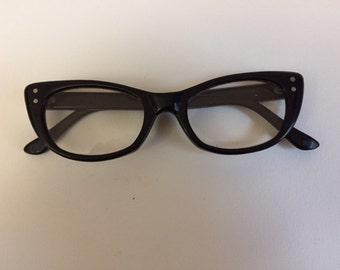 Vintage Black Cat Eye Eyeglasses