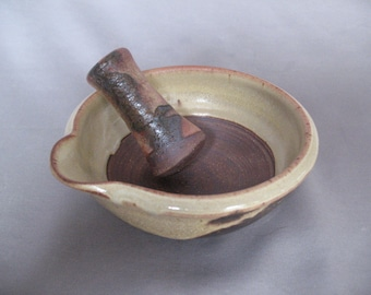 Mortar and Pestle, handthrown pottery by Jennie Blair