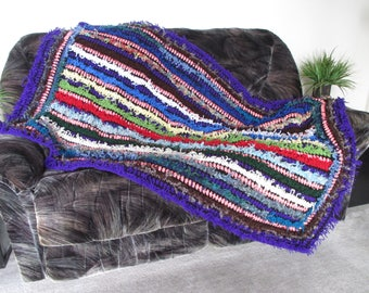NEW! gift idea crochet afghan/throw blanket short and shaggy colorful