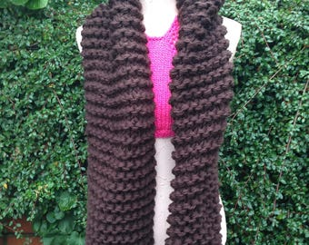 Women Scarf, Chunky Scarf, Outlander, OFFER Any 2 for 48. Pay only 1 shipping. knit Scarf Teen, Outlander Scarf, Brown Scarf,  Gift for Her