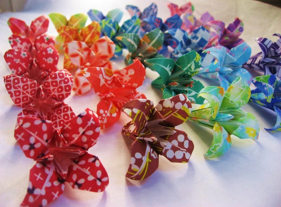 25 Japanese Origami Irises Made To Order Flowers