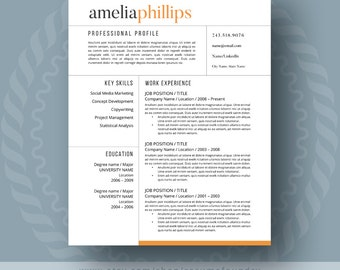 modern resume template for word 1 3 page resume cover letter reference - Modern Resume Templates