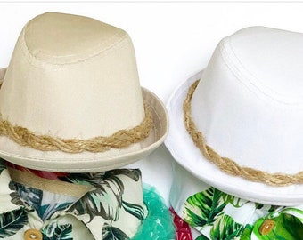 Hawaiian Fedora for DOGS, CATS! dog hats, dog caps, summer hat, cowboy hat, sun visor hat, sun hat, pet accessories, dog hoodies, dog outfit