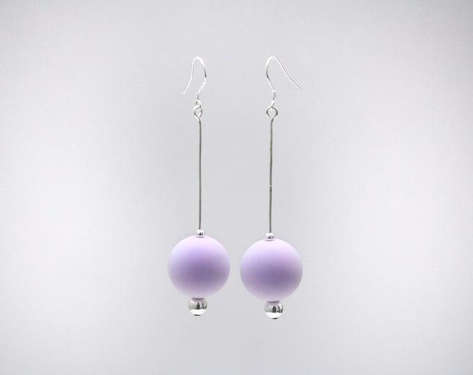 Lavender Purple Big Drop Earrings.