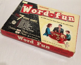 Word Fun Games by Transogram 1954