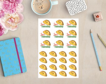 Taco Tuesday Planner Stickers | Erin Condren, Happy Planner, Personal Planner, TN