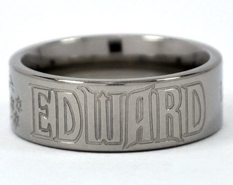 New VAMPIRE - Team Edward Titanium Ring