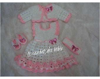 """all baby dress + headband + shoe + vest """"made to order"""""""