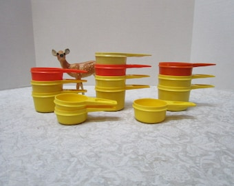 Vintage Tupperware Nesting Measuring Cups, YOUR CHOICE ONE Replacement 3/4, 2/3, 1/2, 1/3, 1/4, Space Saving, Plastic Clean, Retro